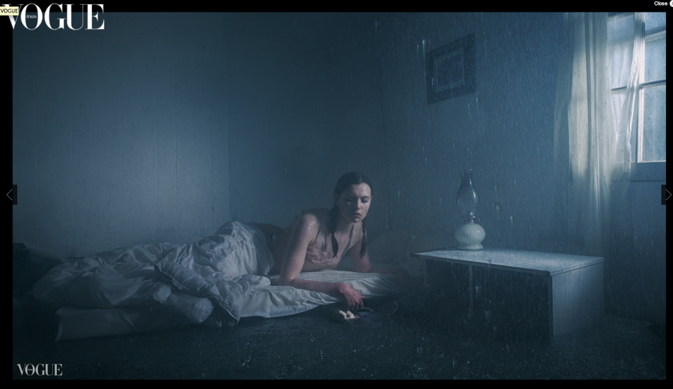 Gregory Crewdson Inspired Deluge Water Photoshoot